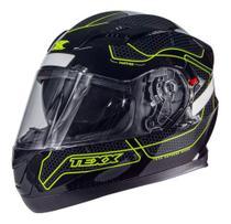 Capacete Moto Texx G2 Panther Dupla Viseira Interna Verde -