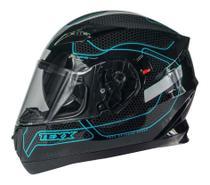 Capacete Moto Texx G2 Panther Dupla Viseira Solar Azul -