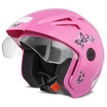 Capacete moto Thunder Open New Summer Femme EBF rosa -