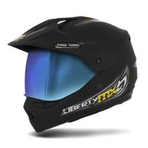 Capacete Moto Trilha Pro Tork Mx Pro Vision Viseira Camaleão -