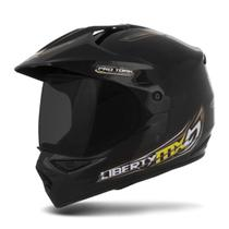 Capacete Moto Trilha Pro Tork MX Pro Vision Viseira Fumê -