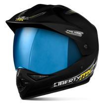 Capacete Moto Trilha Pro Tork Mx Pro Vision Viseira Iridium -