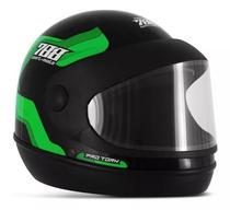Capacete Moto Verde Masculino Tipo Sanmarino 788 Automático 58/60 Pro Tork -