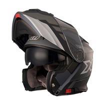 Capacete Moto X11 Turner Prisma Escamoteavel Viseira Solar -
