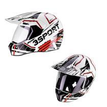 Capacete Motocross Bieffe 3 Sport Drax Masculino Pala Lançamento 2020 -