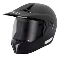 Capacete Motocross Bieffe 3 Sport New Classic Preto Fosco 3 em 1 -