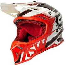 Capacete Motocross Cross ASW Fusion 2 Blade Branco Vermelho -