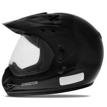 Capacete Motocross EBF Motard Solid Preto Brilhante - Ebf Capacetes