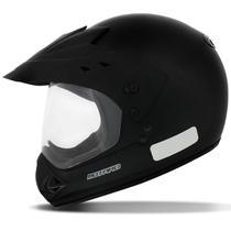 Capacete Motocross EBF Motard Solid Preto Fosco Com Viseira - Ebf Capacetes