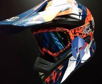 Capacete Motocross Helt Mx Traction Cross Off Road 62XL + Oculos -
