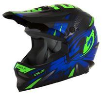 Capacete Motocross Infantil Pro Tork CK-01 Preto/Azul 54 - Mua Commerce