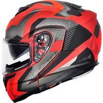 Capacete MT Atom SV Articulado Hybrid Vermelho/Preto Fosco - Mt Helmets