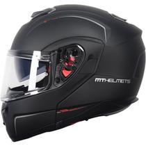 Capacete MT Atom SV Articulado Mono Preto Fosco - Mt Helmets