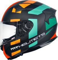 Capacete MT KRE Sign Matt Orange Fluor -