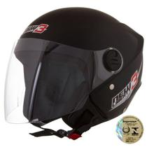 Capacete New Liberty Three Preto Fosco Pro Tork -