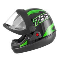 Capacete New Sport Preto/Verde Tamanho 60 CAP-743PTVD Pro Tork -