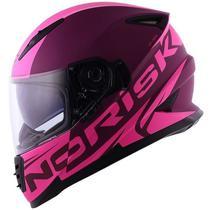 Capacete Norisk FF302 SV Manty Roxo Rosa Feminino -