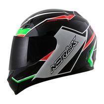 Capacete Norisk FF391 Storm Black/Green/Red - Ls2 Norisk Agv