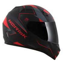 Capacete Norisk FF391 Stripes Matte Black / Grey / Red - Ls2 / norisk