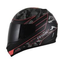 Capacete Norisk Ff391 War Matte Blk/Orange