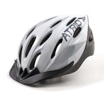 Capacete para Ciclismo MTB 2.0 Viseira Removível e 19 Entradas de Ventilação Branco/Cinza Atrio Tam. M - BI164 -