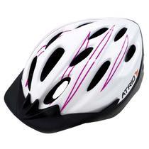 Capacete Para Ciclismo Mtb Tam. M Alcas Ajustaveis E 19 Entradas De Ar Rosa/branco Atrio - Bi124 -