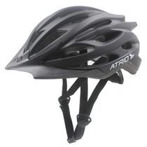 Capacete Para Ciclismo Pro Inmold Viseira Removível E 23 Entradas De Ventilação Preto Fosco Atrio Tam. M - BI115 - Multilaser