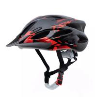 Capacete Para Ciclismo Raptor 2 Tamanho G 57/61cm Sinalizador Traseiro e Viseira Tsw -