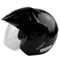 Capacete para moto EBF Thunder Open Solid preto -