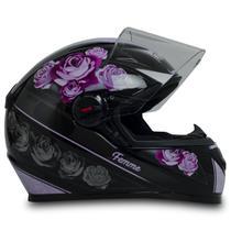 Capacete Para Moto Fw3 Gt Femme Preto Rosa Tamanho 56 -