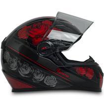 Capacete Para Moto Fw3 Gt Femme Preto Vermelho Tamanho 60 -