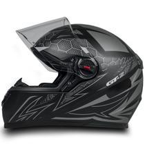 Capacete Para Moto Fw3 Gt2 Preto Fosco Tamanho 56 -