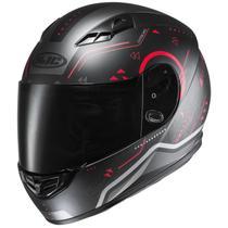 Capacete Para Moto Hjc Cs 15 Safa Preto Com Vermelho 58 - HJC Helmets