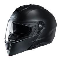 Capacete Para Moto Hjc I90 Solido Preto 58 - HJC Helmets