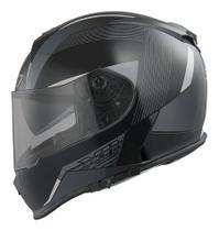 Capacete Para Moto Integral X11 Revo Cinza Tamanho 60 -