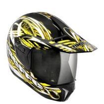 Capacete Para Motociclista 3 Sport Reflex Preto E Amarelo Bieffe -