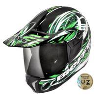 Capacete Para Motociclista 3 Sport Reflex Preto E Verde Bieffe -