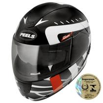 Capacete Para Motociclista Urban Sigma Preto Fosco E Branco Peels -