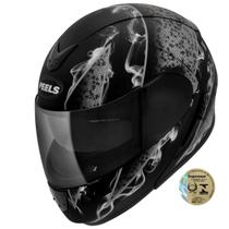 Capacete Para Motociclista Urban Smoke Preto Fosco E Grafite Peels -