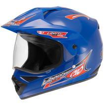 Capacete Para Motocross Liberty Mx Vision Pro Tork Azul -