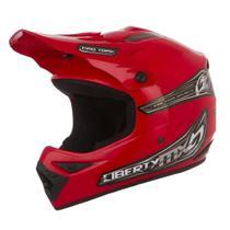 Capacete Para Motocross Pro Tork Liberty Mx Vermelho -