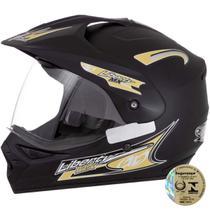 Capacete Para Motocross Pro Tork Liberty Mx Vision Preto Fosco -