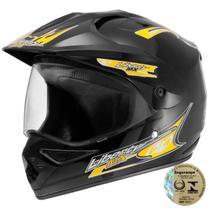 Capacete Para Motocross Pro Tork Liberty Mx Vision Preto -