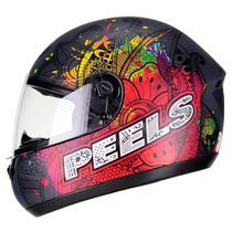 Capacete Peels Spike Indie Motoboy Fechado Masculino Feminino Várias Cores Viseira 2 mm Antirrisco -