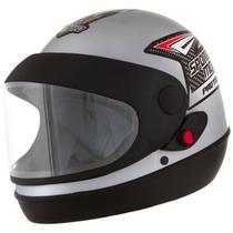 Capacete Prata Moto Automático Tipo Sanmarino Masculino 58/60 Pro Tork -