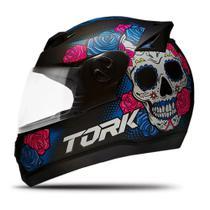 Capacete Pro Tork 788 G7 Evolution Mexican Skull Caveira Fechado -