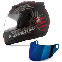 Capacete Pro Tork Evolution G4 Flamengo Tam. 56 + Viseira Iridium -
