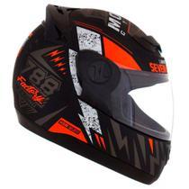 Capacete pro tork evolution g6 788 factory racing preto brilho e laranja tam 56 -