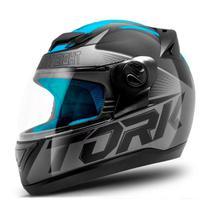 Capacete Pro Tork Evolution G7 Preto/Azul Fosco -