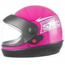 Capacete Pro Tork Sport Moto Rosa -